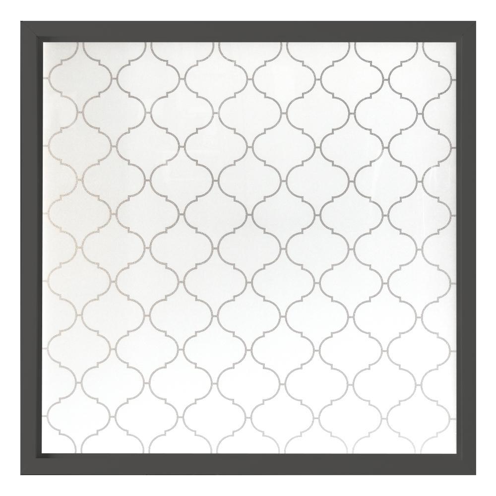 Hy-Lite 47.5 in. x 47.5 in. Baroque Decorative Glass Picture Bronze Vinyl Window