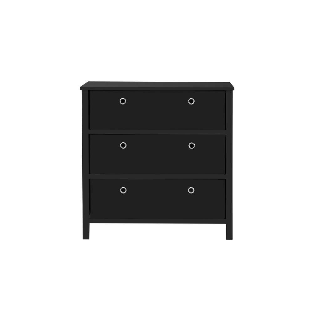 Achim Ez Home Solutions Black 3 Drawer Foldable Single Dresser