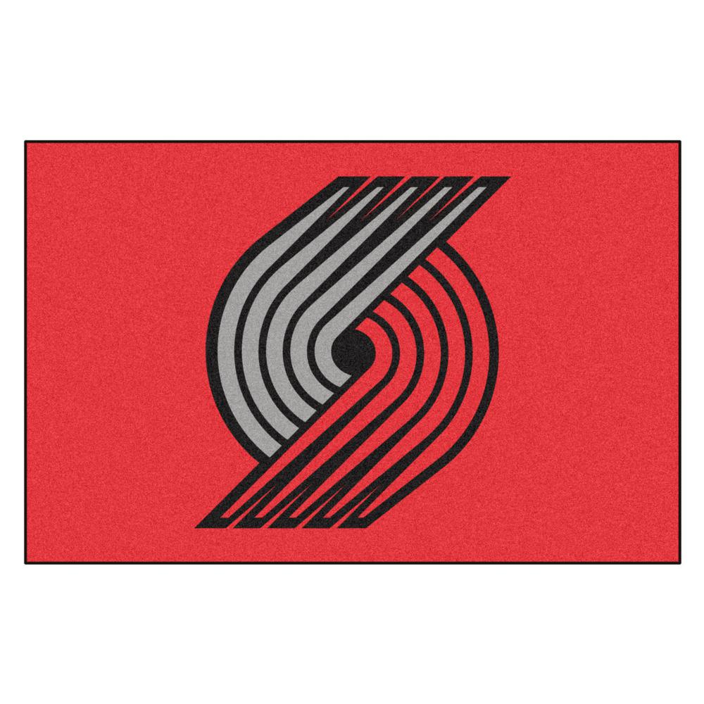 Fanmats Nba Portland Trail Blazers Black 1 Ft 7 In X 2