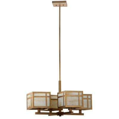 Craftsman 4-Light Antique Gold Chandelier