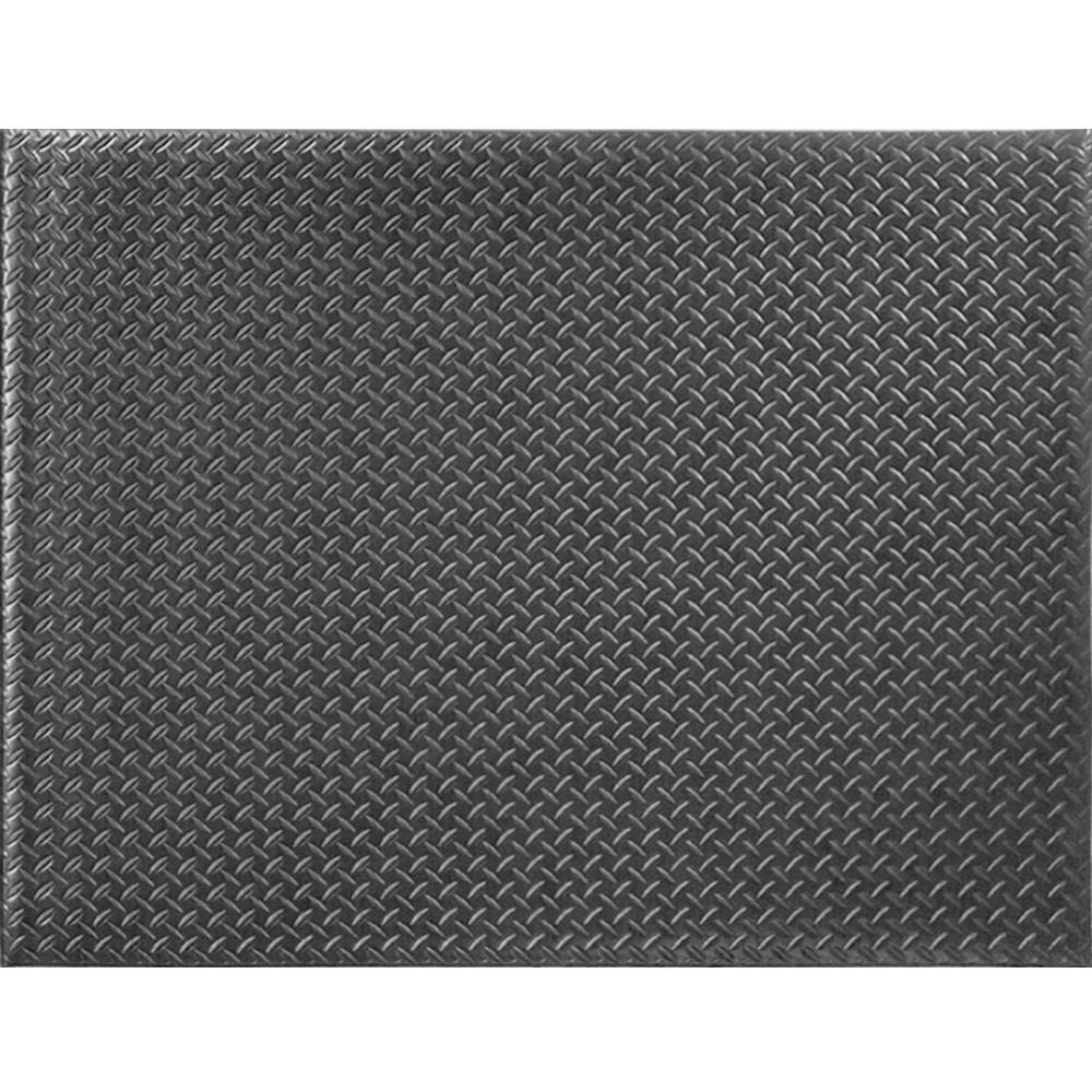 TrafficMASTER Diamond Soft Foot Black 4 ft. x 6 ft. Commercial Door Mat