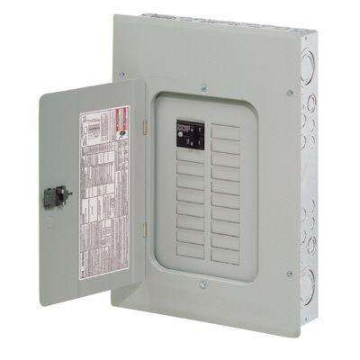 BR 100 Amp 16 Space 24 Circuit Indoor Main Breaker Loadcenter with Cover