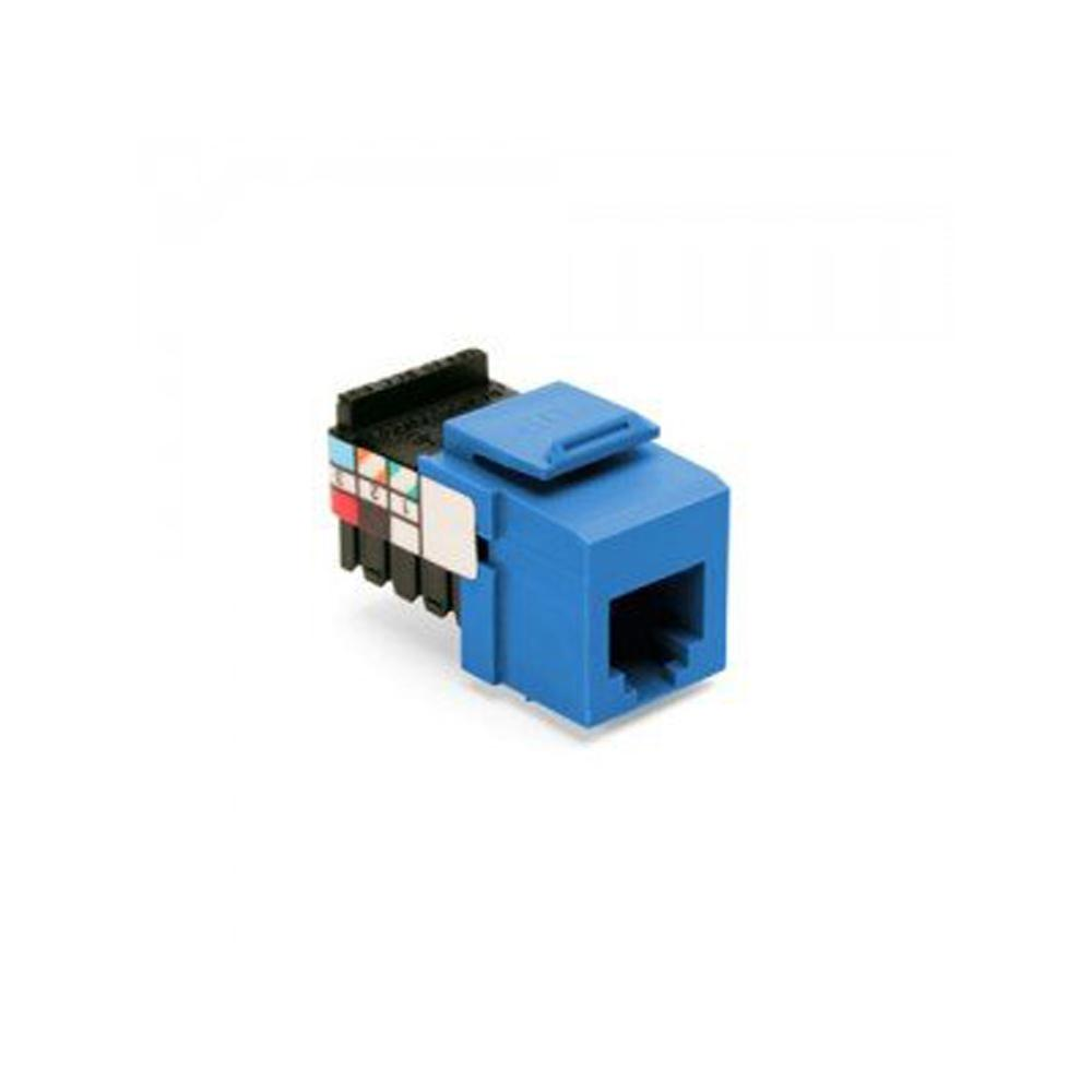 QuickPort 6P6C Voice Grade Connector, Blue