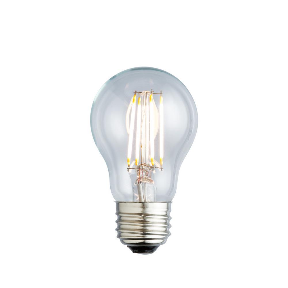 40W Equivalent Soft White A19 Clear Lens Nostalgic LED Light Bulb