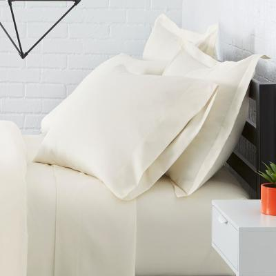 Solid Brushed Soft Microfiber Duvet Cover Set