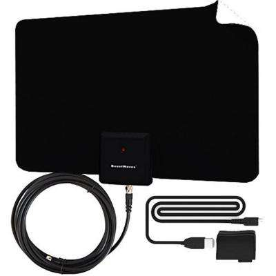 Amplified Razor 60 HDTV Indoor Flat Leaf Antenna with RG6 Cable 60 HDTV Channels