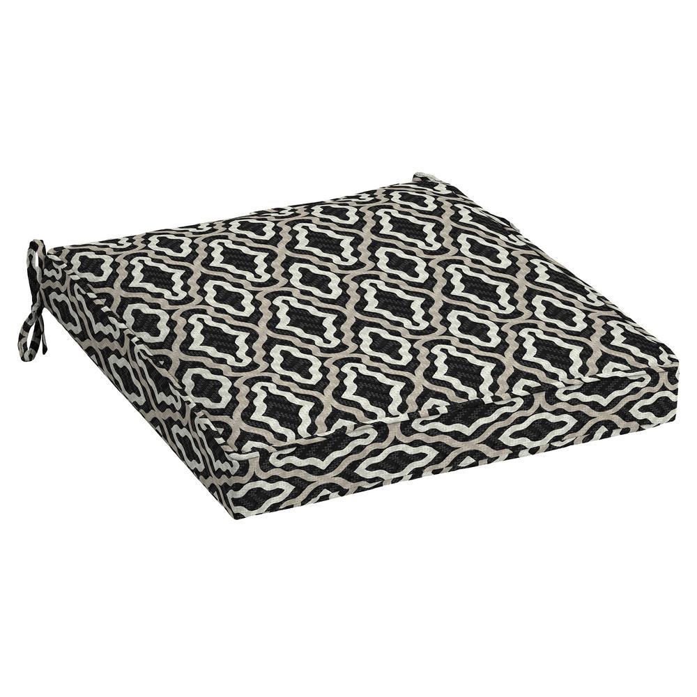 Arden Selections DriWeave Amalfi Trellis Outdoor Square Seat Cushion