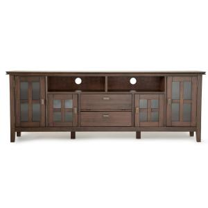 Bon Artisan Natural Aged Brown 72 In. TV Media Stand