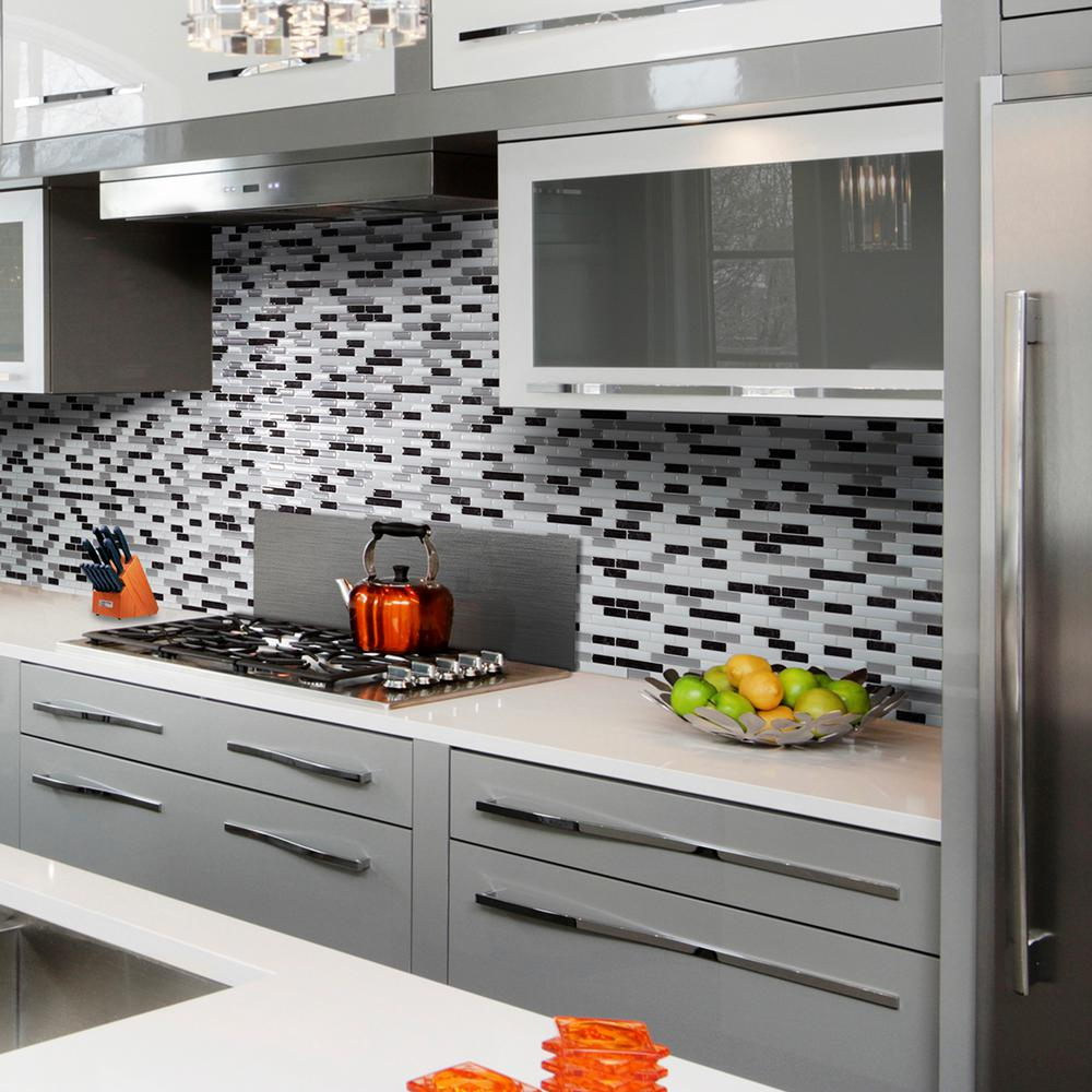 Smart tiles muretto alaska in w x in h peel Kitchen self design