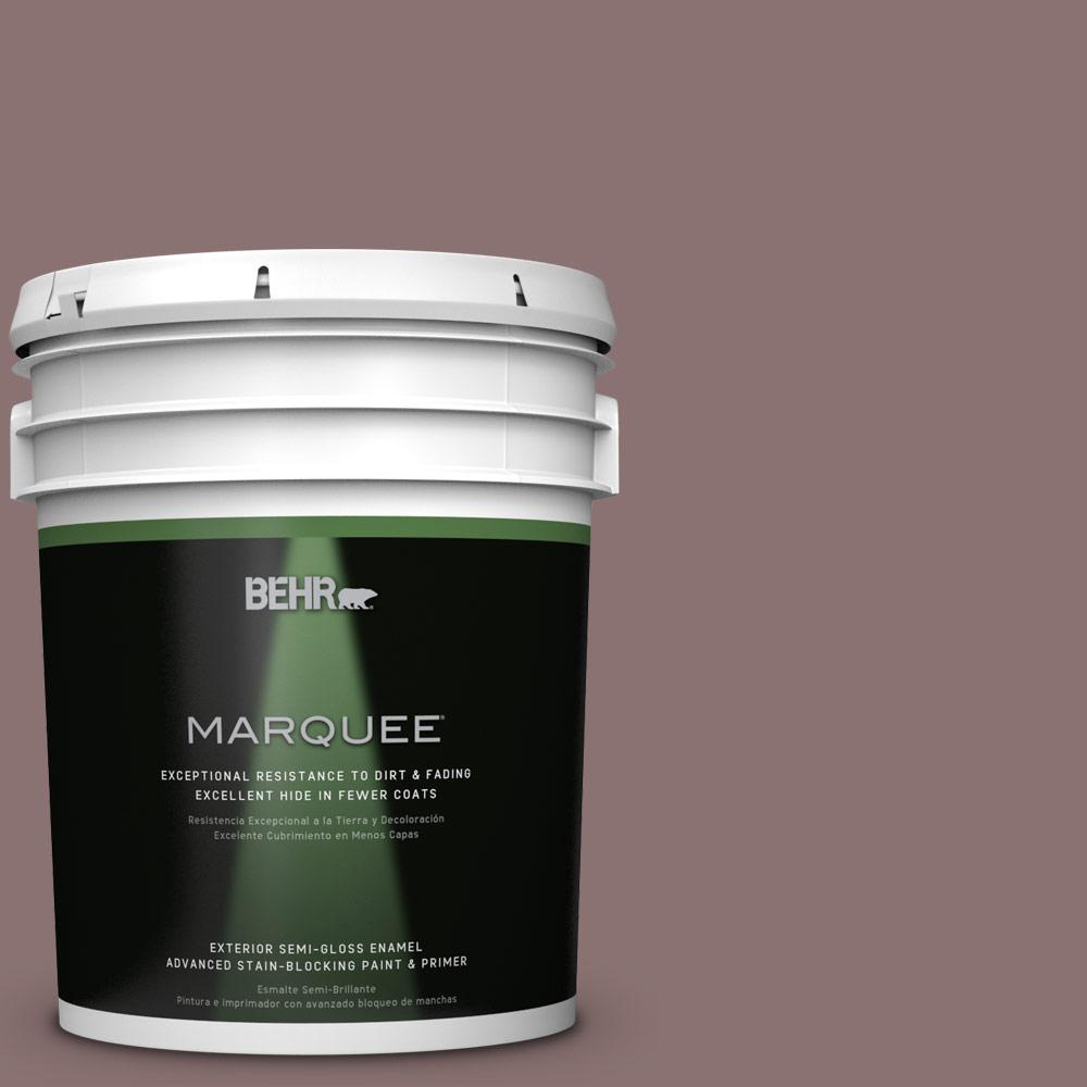 BEHR MARQUEE Home Decorators Collection 5-gal. #HDC-AC-28 Smokey Claret Semi-Gloss Enamel Exterior Paint