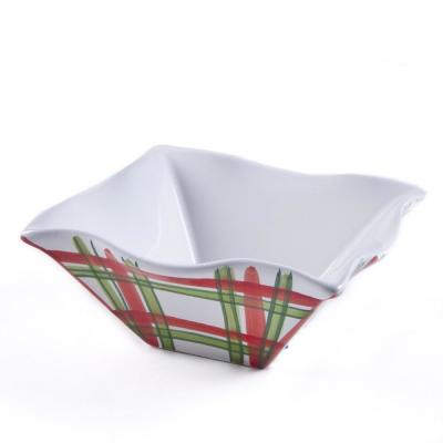 Tartan Twist Red/White/Green Cereal Bowl (Set of 4)