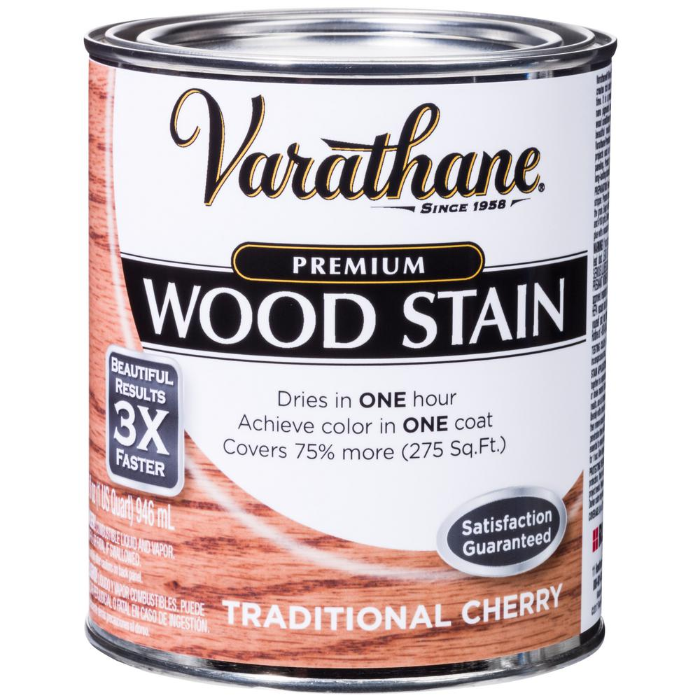 Varathane 1 qt. Traditional Cherry Premium Fast Dry Interior Wood Stain (2-Pack)