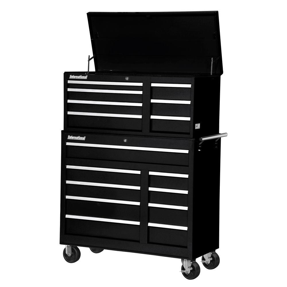 Workshop 42 in. 16-Drawer ToolSet, Black