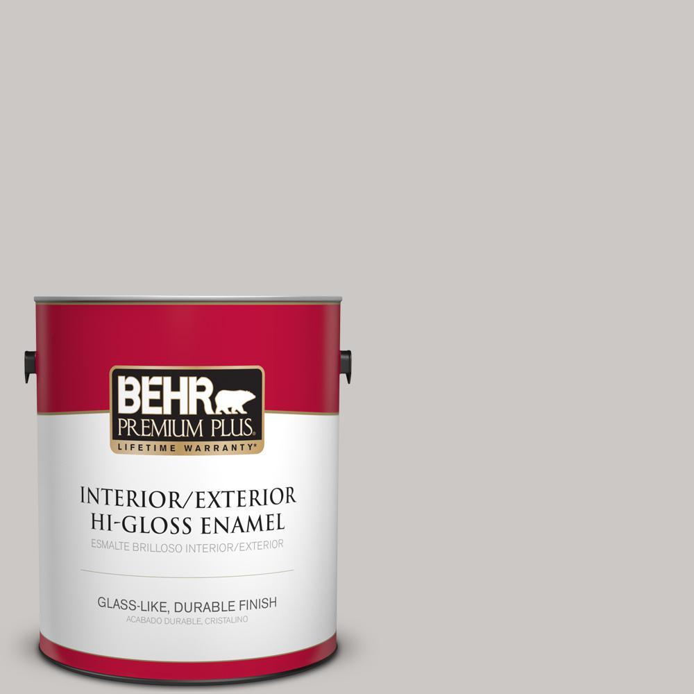 1 gal. #PPU26-09 Graycloth Hi-Gloss Enamel Interior/Exterior Paint