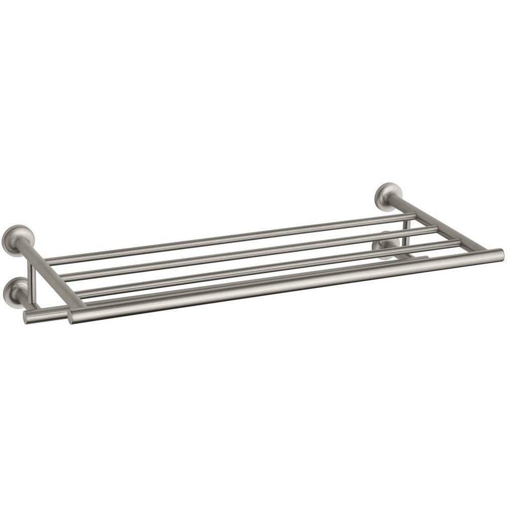 KOHLER Purist 24 in. Towel Hotelier in Vibrant Brushed Nickel-K ...