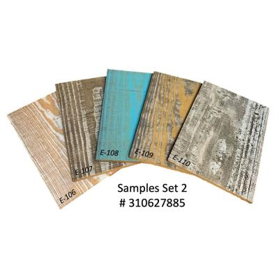 Thermo-Treated Samples 1/4 in. x 5 in. x 0.7 ft. Mixed Color Barn Wood Wall Planks (1.5 sq. ft. per 5-Pack)