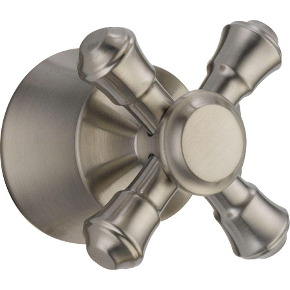 Cassidy Tub and Shower Faucet Metal Cross Handle in Stainless