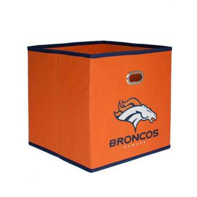 Denver Broncos NFL Store-Its 10-1/2 in. W x 10-1/2 in. H x 11 in. D Orange Fabric Drawer