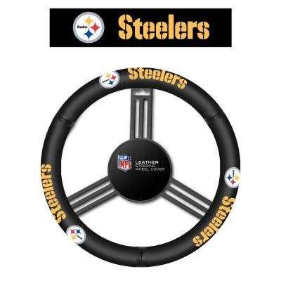 NFL Pittsburgh Steelers Leather Steering Wheel Cover