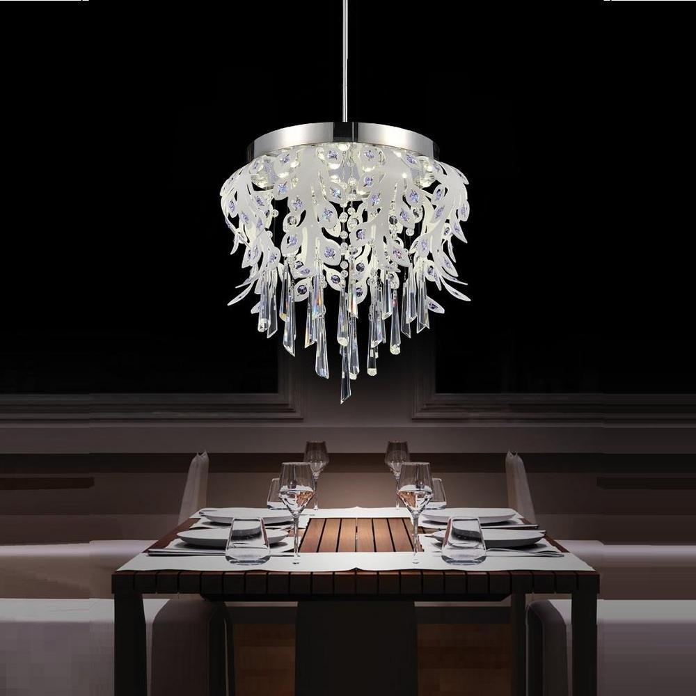 Modern Led Integrated Ceiling Lights Chandeliers Panel: Crystal World Inc. Frost 38-Watt Chrome Integrated LED