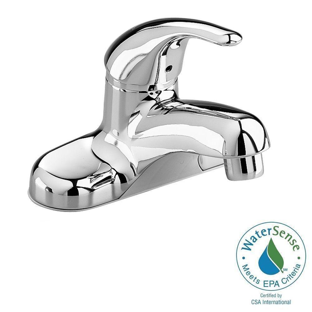 MOEN Kingsley 4 in. Centerset 2-Handle High-Arc Bathroom Faucet in ...
