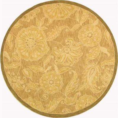 Chelsea Light Brown 4 ft. x 4 ft. Round Area Rug