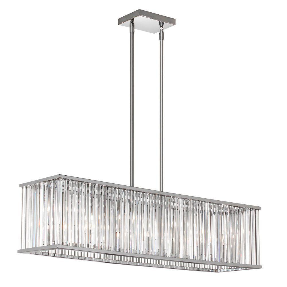 Aruba 7-Light Polished Chrome Horizontal Crystal Chandelier
