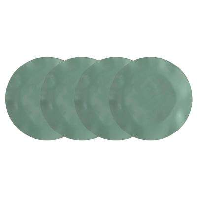 Ruffle 4-Piece Green Melamine Salad Plate Set