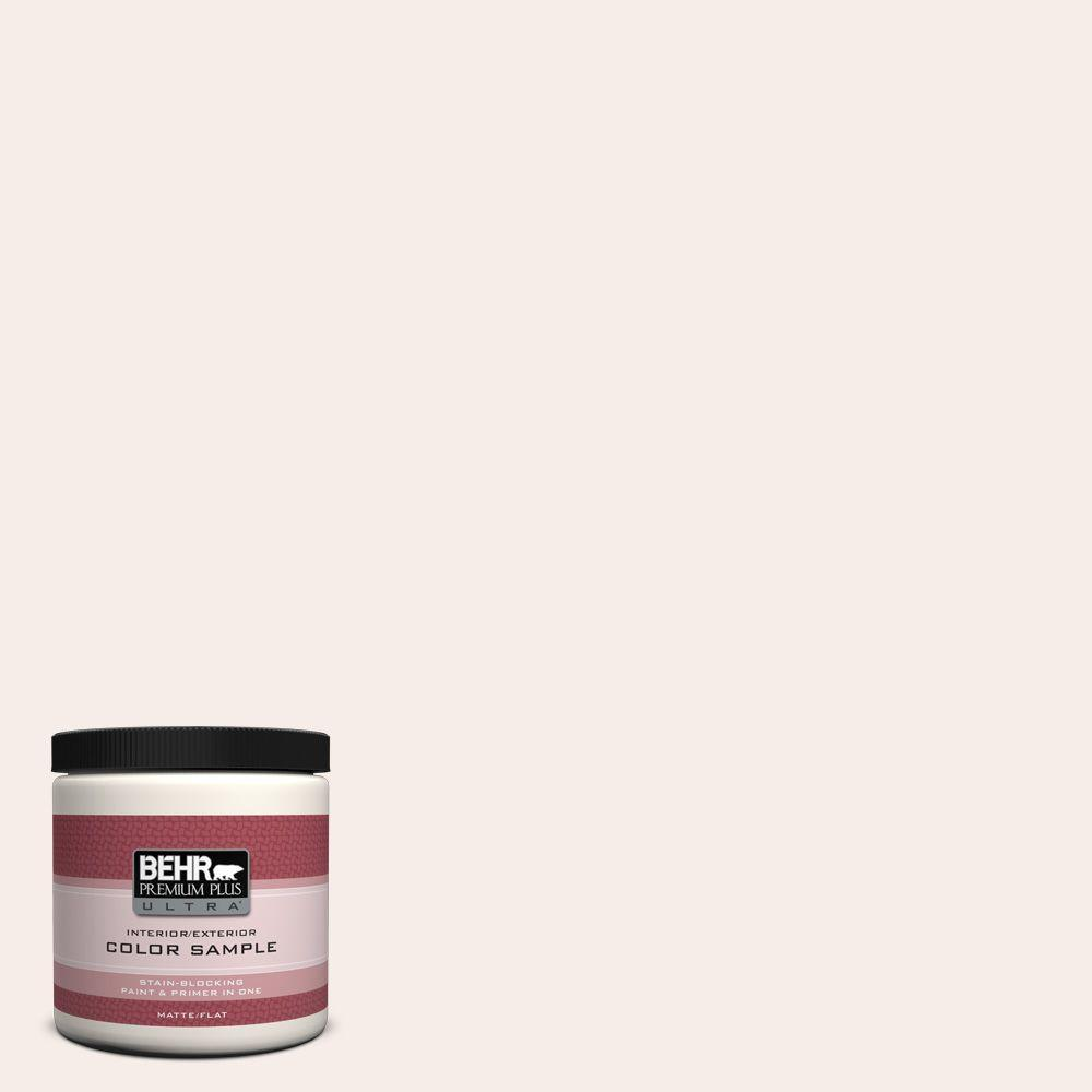 BEHR Premium Plus Ultra 8 oz. #W-B-110 Soft Lace Matte Interior/Exterior Paint and Primer in One Sample