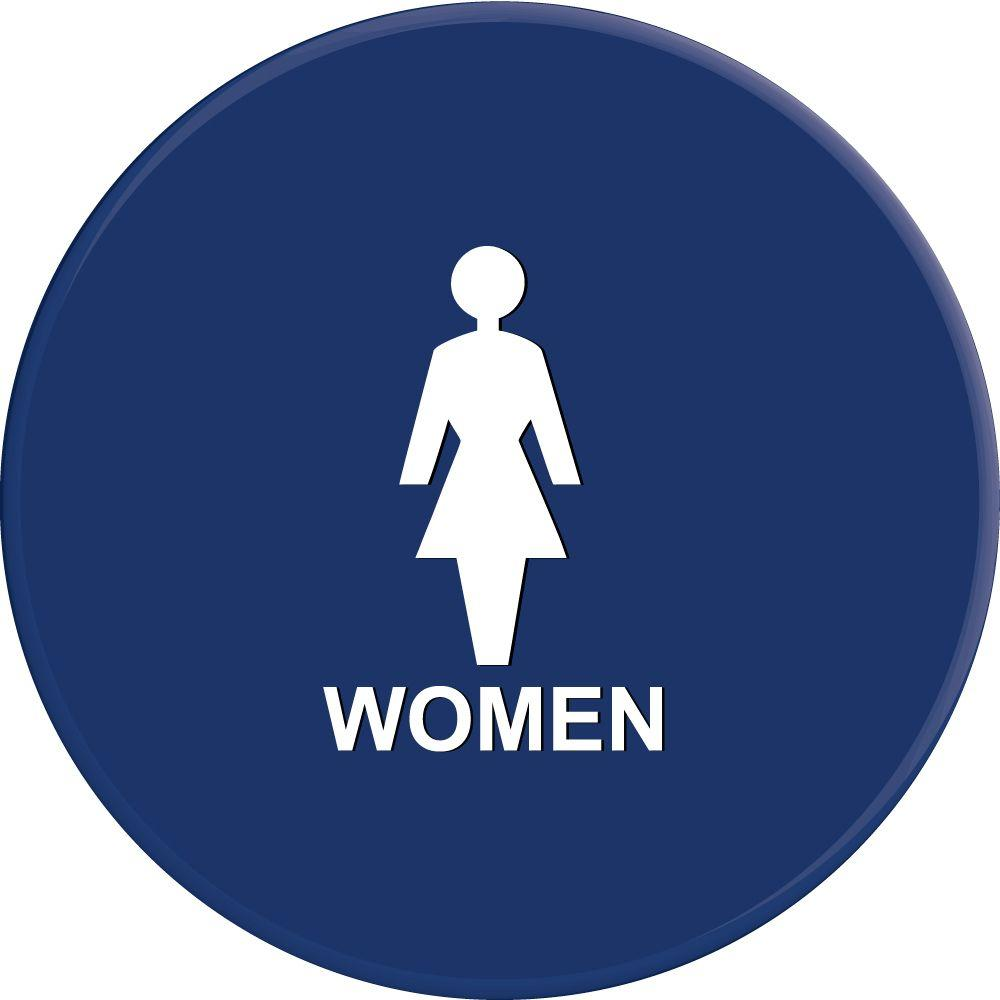 Lynch Sign 12 in. Blue Circle with Women Symbol Sign