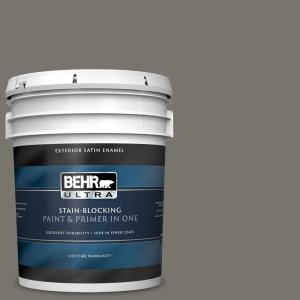 Behr Marquee 1 Gal Ppu2 20 Oxblood Semi Gloss Enamel Exterior Paint And Primer In One 545301 The Home Depot
