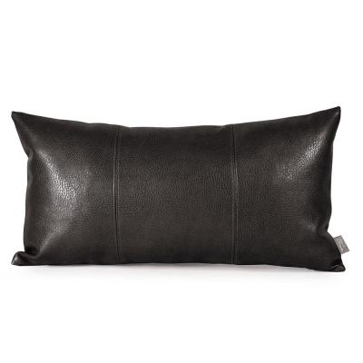 Sultry Black Solid Polyester 5 in. x 11 in. Throw Pillow