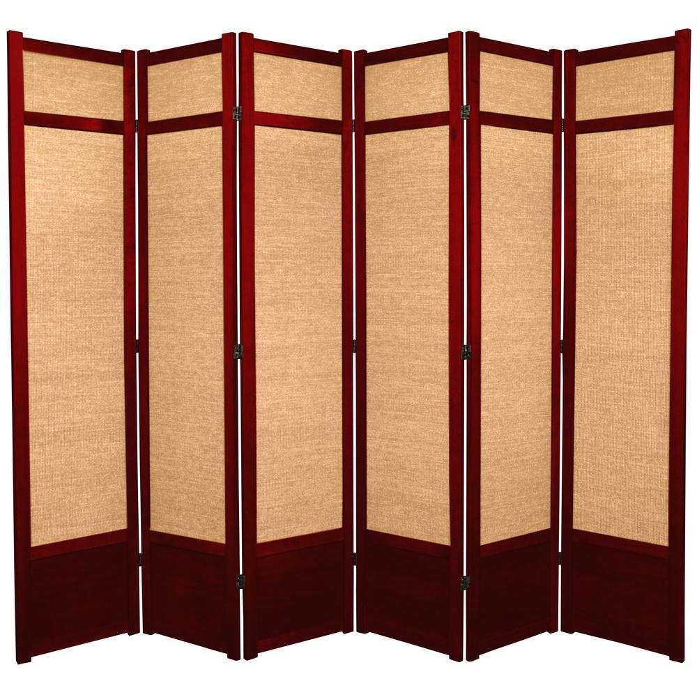 7 ft. Rosewood 6-Panel Room Divider
