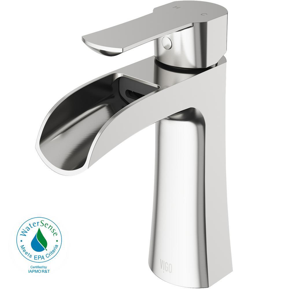 Paloma Single Hole Single-Handle Bathroom Faucet in Brushed Nickel