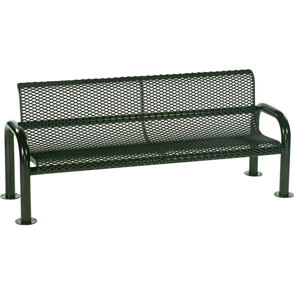 Harmony 6 ft. Green Commercial Bench