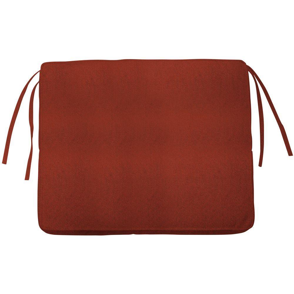 Home Decorators Collection Sunbrella Henna Rectangular Outdoor Seat Cushion