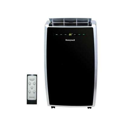 10,000 BTU, 115-Volt Portable Air Conditioner with Dehumidifier and Remote Control in Black and Silver