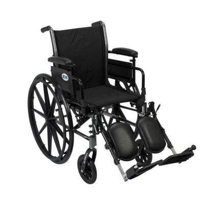 Cruiser III Light Weight Wheelchair with Removable Flip Back Adjustable Desk Arms and Elevating Legrest