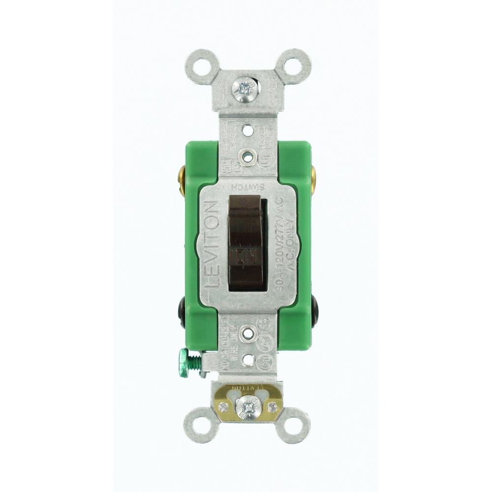 Leviton 30 Amp Industrial Grade Heavy Duty Double-Pole Toggle Switch ...