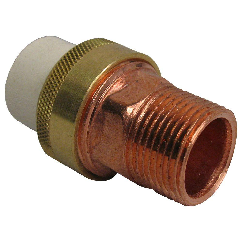 3/4 in. Lead-Free Copper and CPVC CTS MPT x Slip Transition