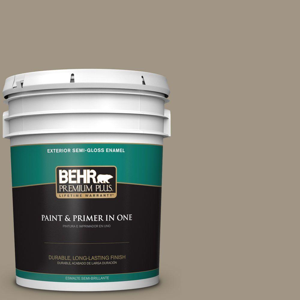 5-gal. #BNC-24 Shadow Taupe Semi-Gloss Enamel Exterior Paint
