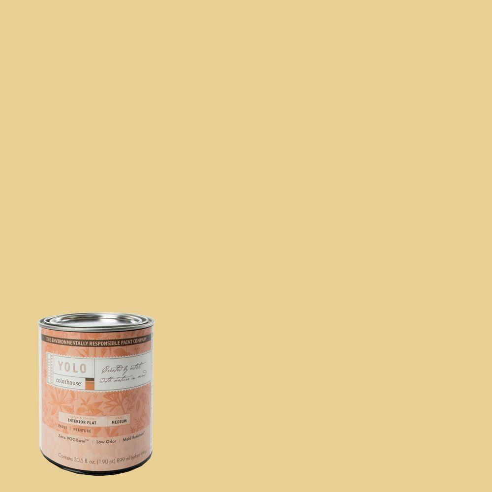YOLO Colorhouse 1-Qt. Beeswax .02 Flat Interior Paint-DISCONTINUED