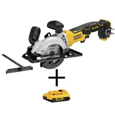 ATOMIC 20-Volt MAX Cordless 4-1/2 in. Circular Saw with Bonus Battery