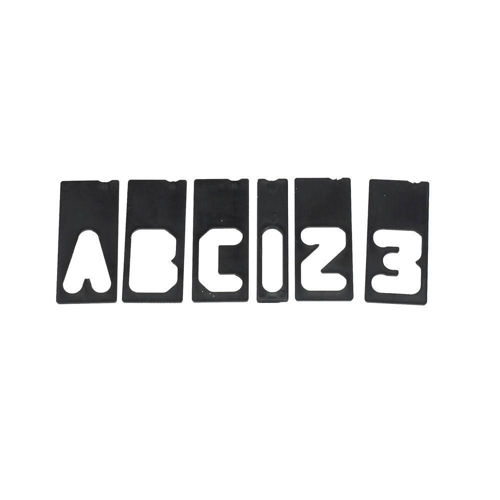 Milescraft 2-1/2 in. Letter/Number Sign-Making Template Set