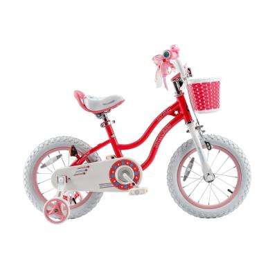 Stargirl Girl's Bike with Training Wheels and basket, 14 in. Wheels in Pink