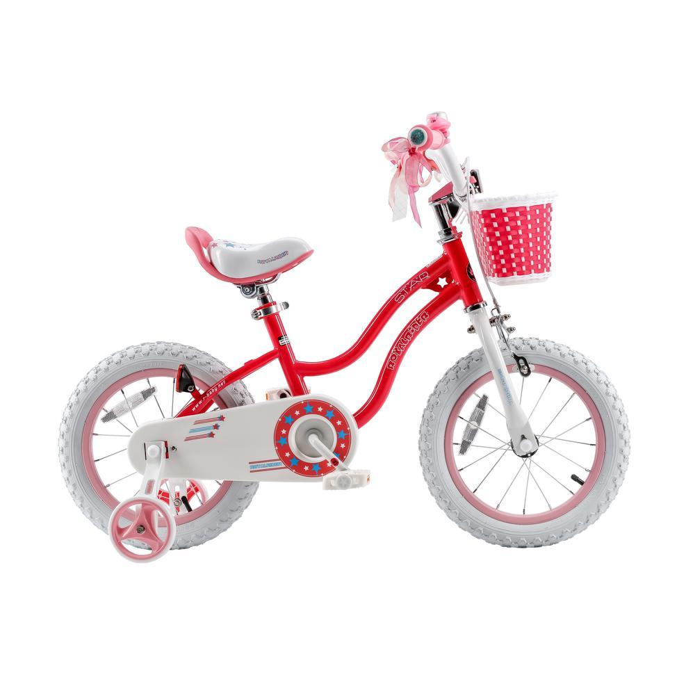 16 in. Stargirl Girl's Bike with Training Wheels and basket, Wheels in Pink