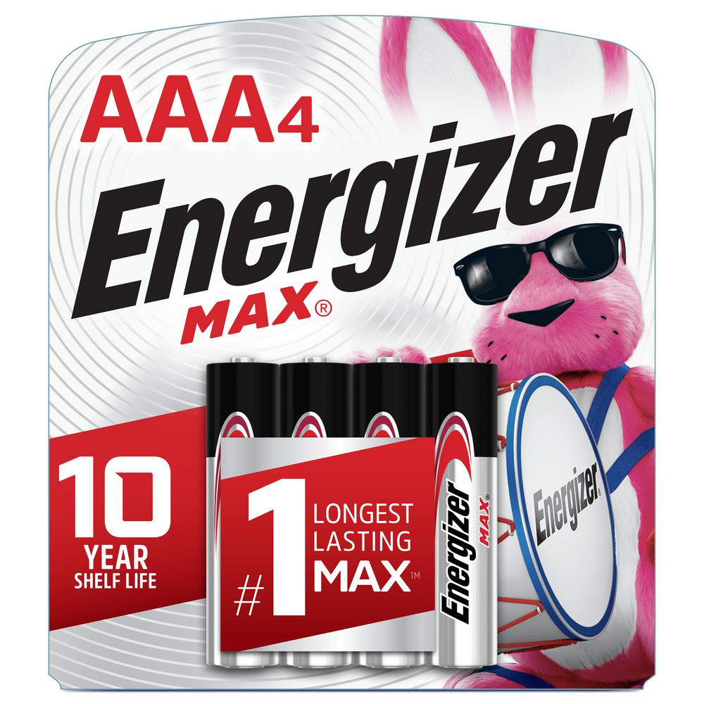 Eveready Battery MAX AAA Batteries (4 Pack), Triple A Alkaline Batteries