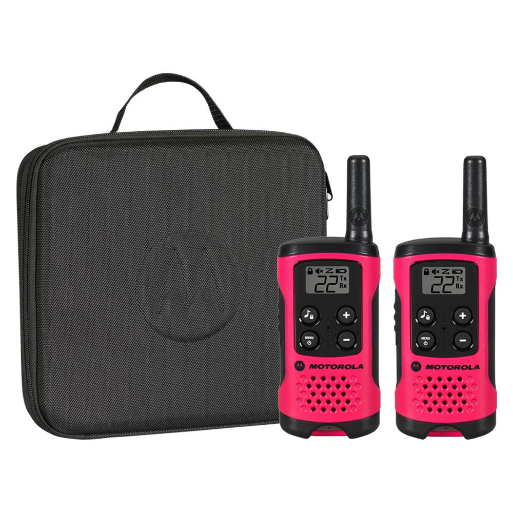 16-Mile Range AAA Neon Pink Talkabout Series Molded Soft Carry Case
