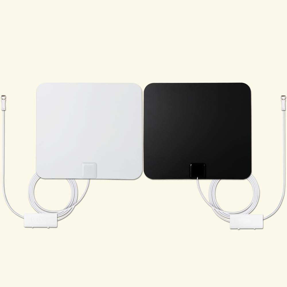 Paper Thin Indoor Tv Antenna Combo Pack With Two Smartp Amplified Omni Directional Hdtv 55 Mile Range Antennas