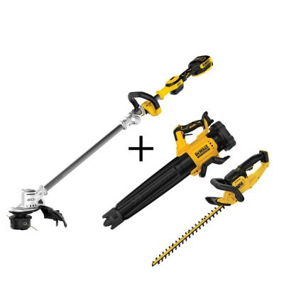 20-Volt MAX Li-Ion Brushless Cordless 14 in. String Trimmer with Bonus Bare Cordless Handheld Blower and Hedge Trimmer